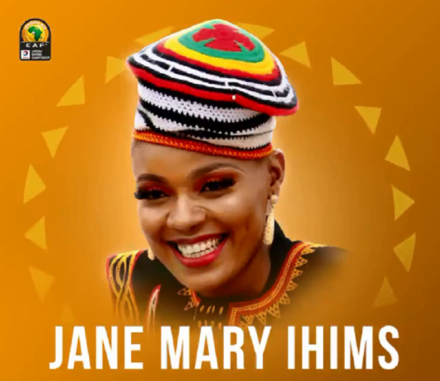 Hymne officiel du CHAN 2020, Jane Mary Ihims joue la participation de la voix féminine