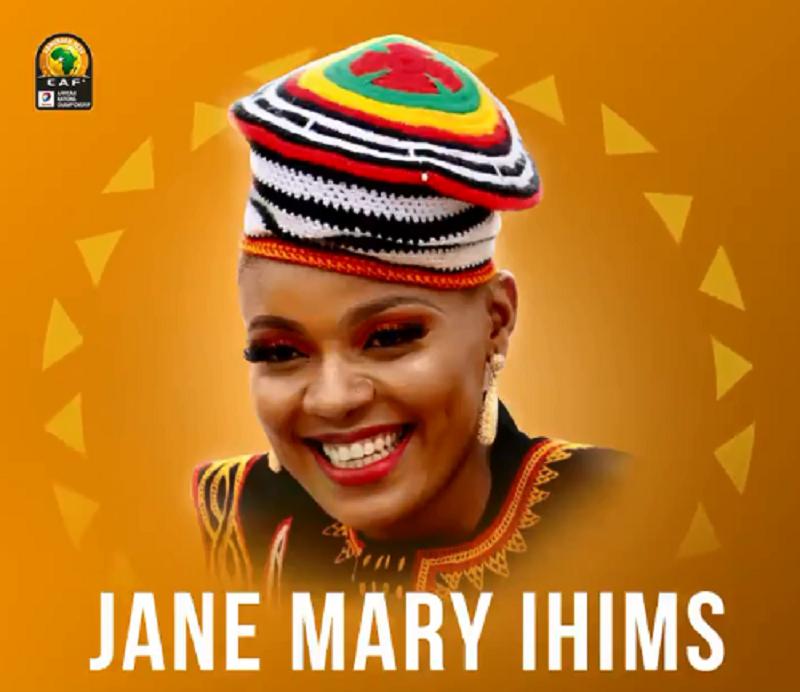 Hymne officiel du CHAN 2020, Jane Mary Ihims joue la participation de la voix féminine